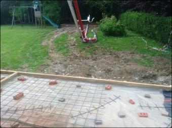 Construction d'une chape en béton