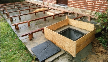 Construction d'un planché de terrasse